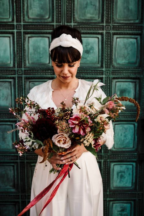Oversized bridal bouquet by Agnes and Bee for Micro wedding
