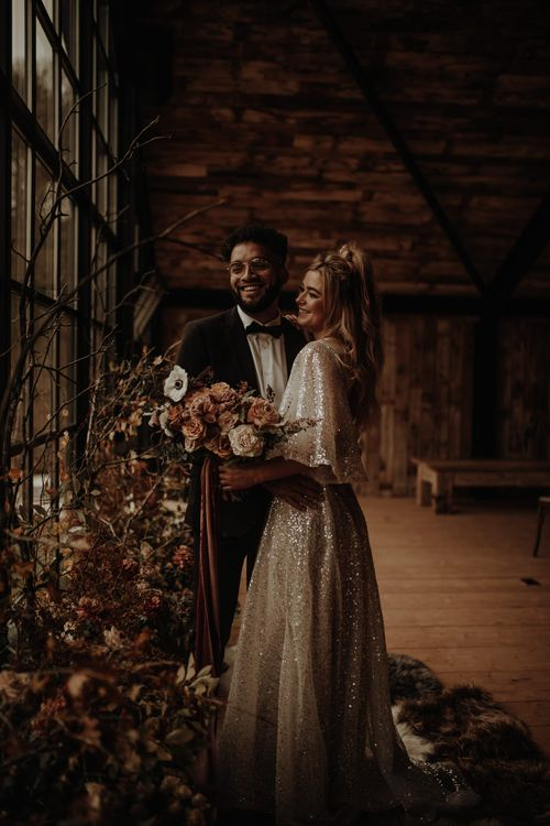 Christmas wedding inspiration at The Hidden River Cabins by Esme Whiteside Photography