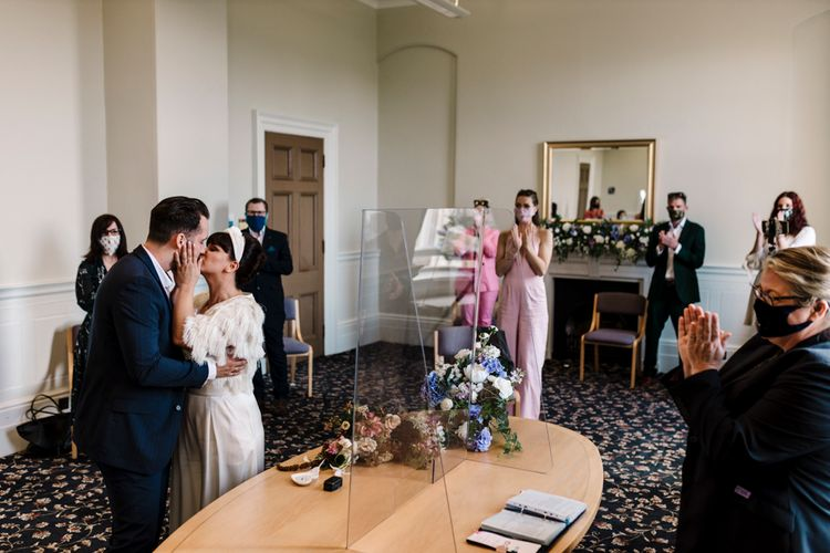 COVID secure registry office wedding in Liverpool