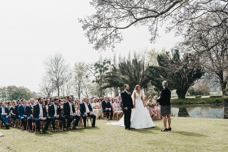 Outdoor Brinsop Court wedding