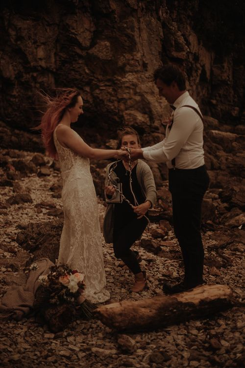 Lake District Elopement Wedding with hand fastening