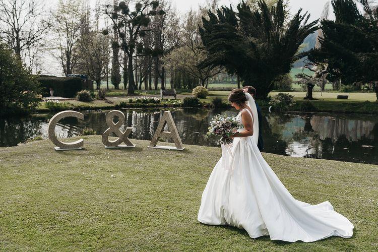 Stella York wedding dress at Brinsop Court wedding