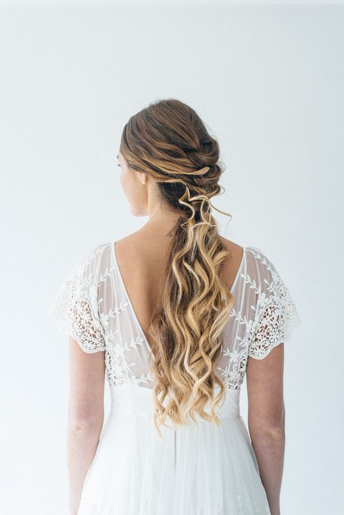 Bridal Pony Tail With Plait Detail