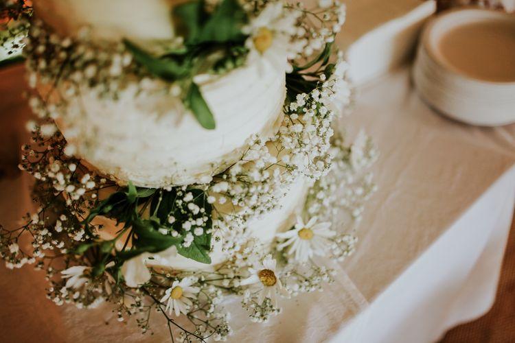 Gypsophila Decorated Wedding Cake