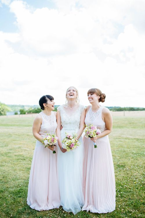 Bridesmaids In Dusky Pink