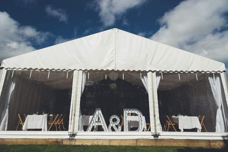 Marquee Reception   A & D Light up Letters