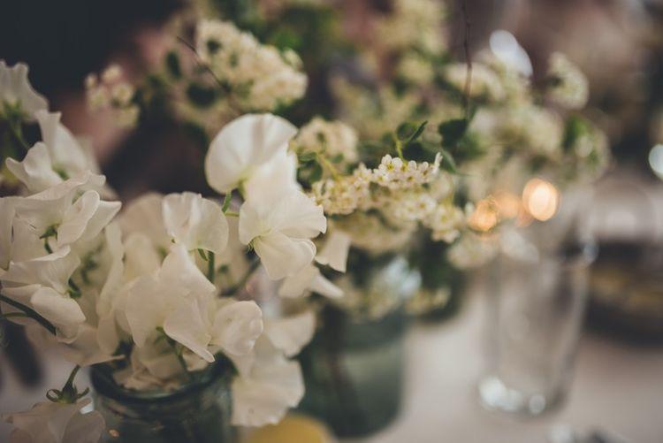 White Flower Centrepieces
