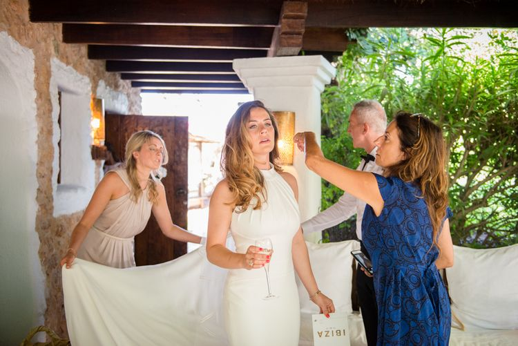 Bridal Preparations | Outdoor Ibiza Destination Wedding | Gypsy Westwood Photography | Infin8 Film