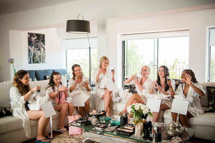 Bridal Party Wedding Morning Preparations | Outdoor Ibiza Destination Wedding | Gypsy Westwood Photography | Infin8 Film