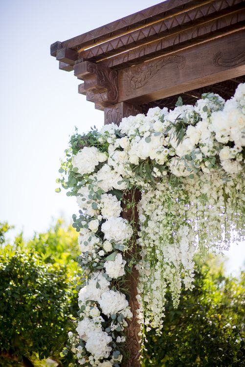 White Flower Wedding Arbour | Outdoor Ibiza Destination Wedding | Gypsy Westwood Photography | Infin8 Film
