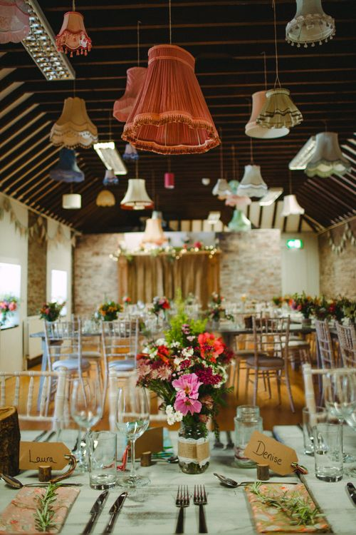Lampshade Wedding Decor