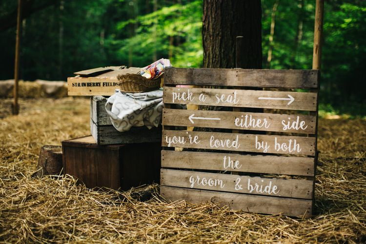 Wood Palette Wedding Sign