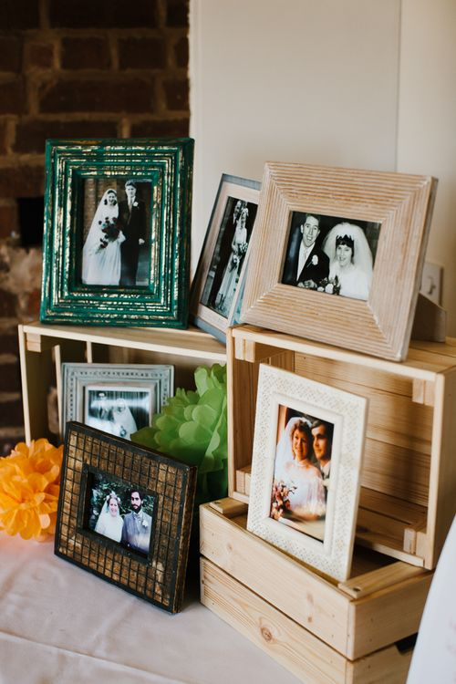 Old Family Portraits | Wedding Decor | Curradine Barns, West Midlands | Chris Barber Photography