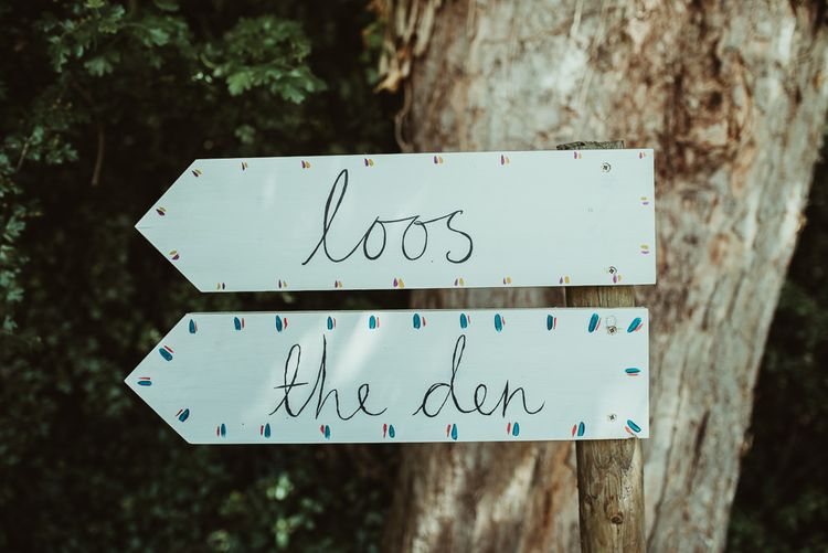 Rustic Hand Painted Wooden Signs For Wedding Day