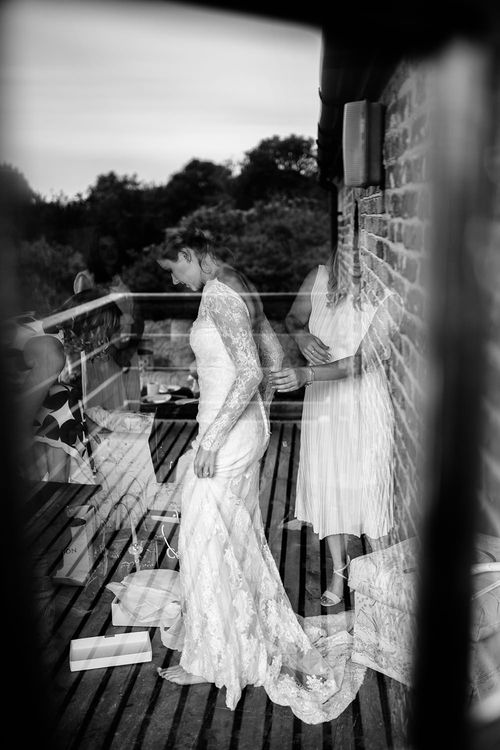 Bridal Preparations | Bride in Lace Sottero & Midgley Gown | Tawny Photo