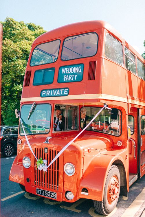 Red London Bus Wedding Transport