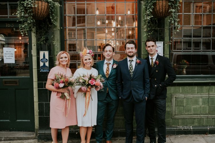 Stylish Wedding Party In Orla Kiely and Ted Baker