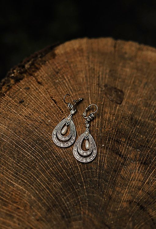 Silver Earrings For Bride