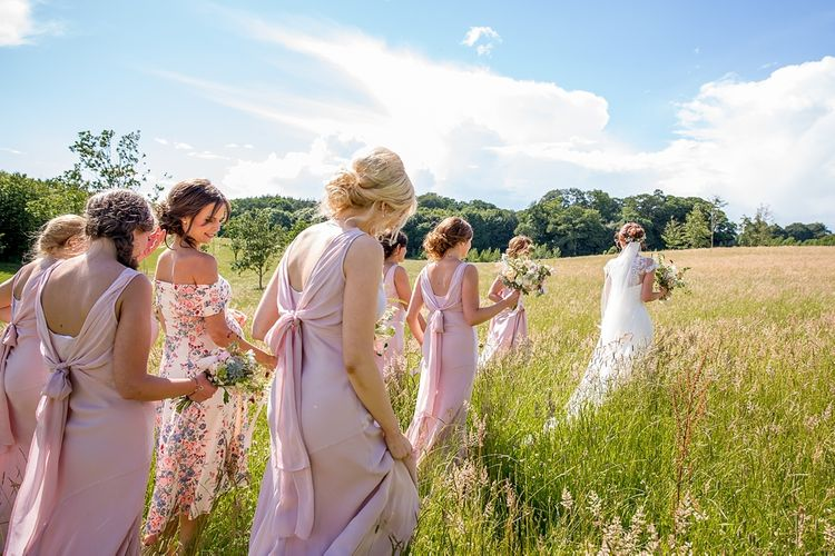 Bridesmaid in Pink Ghost 'Taylor' Dresses