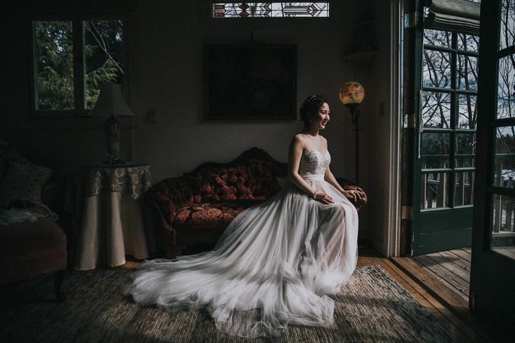 Bride Getting Ready For Wedding | Watters Penelope Wedding Dress | Images By Matt Horan Photography
