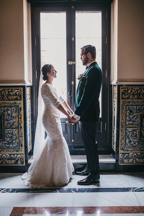 Bespoke Wedding Dress For Spanish Wedding In Seville