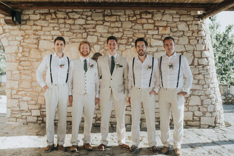 Groomswear // Light Suits With Braces For Destination Wedding