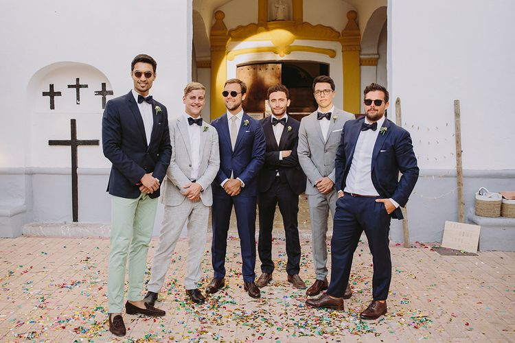 Groomswear // Colourful Suits & Bowties For Destination Wedding