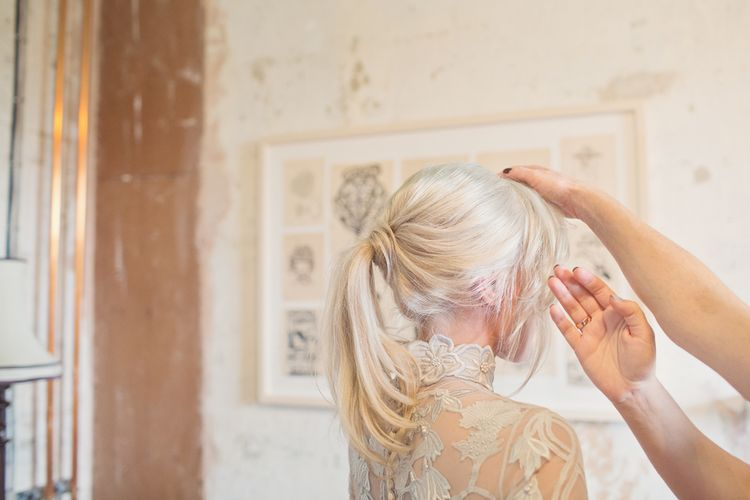 Getting Ready | Bridal Up Do | Cotton Candy Photography