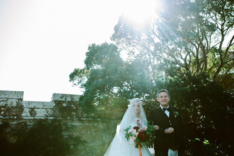 Bride & Father Of The Bride in Kilt
