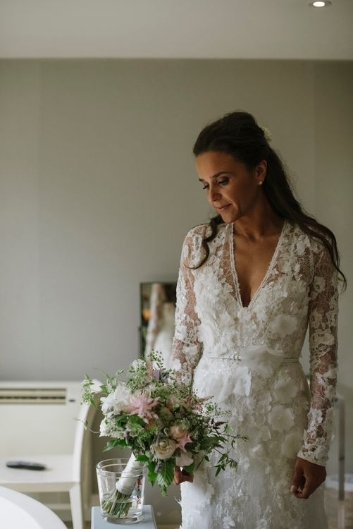 Bride in Elie Saab for Pronovias