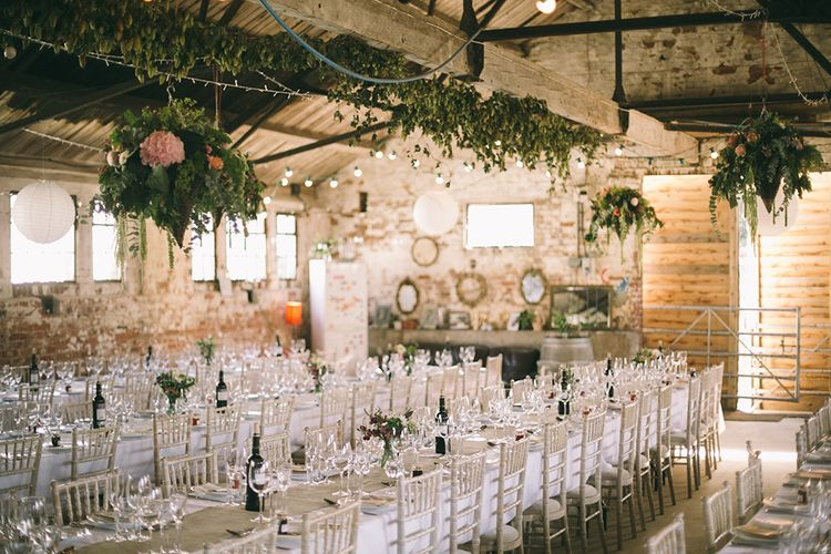 Rustic Barn Filled with British Grown Flowers