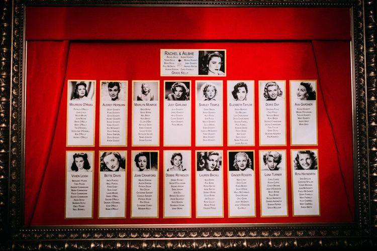Hollywood Icons Table Plan