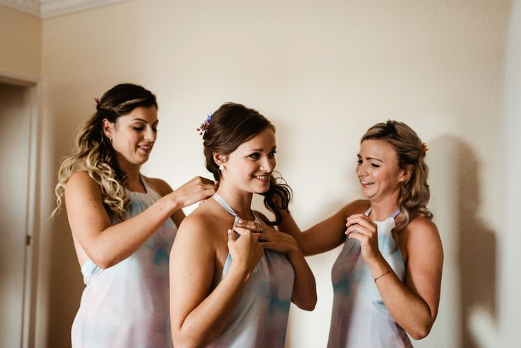 Wedding Morning Bridal Preparations | Colourful Outdoor Ceremony and Marquee Reception at Braisty Estate in North Yorkshire | The Lou's Photography