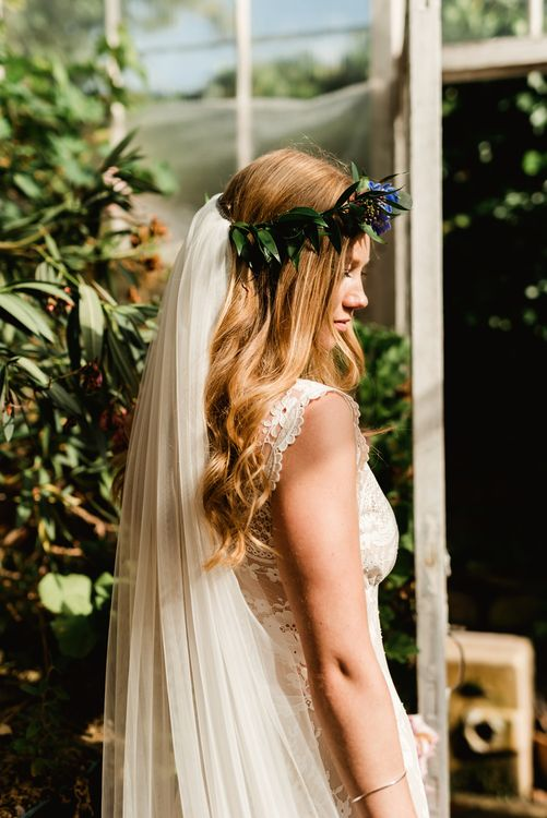 Bride in Claire Pettibone Wedding Dress | Colourful Outdoor Ceremony and Marquee Reception at Braisty Estate in North Yorkshire | The Lou's Photography
