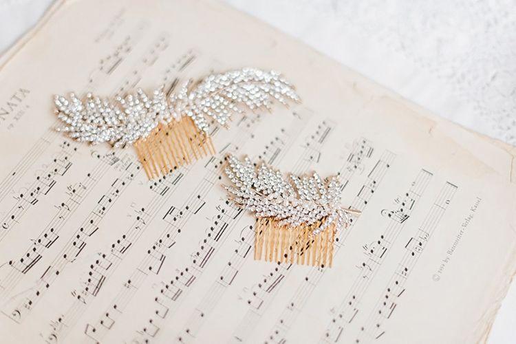 Bridal hair Combs | Blush Pink, Romantic, Country Wedding Inspiration at Tithe Barn, Dorset | Darima Frampton Photography