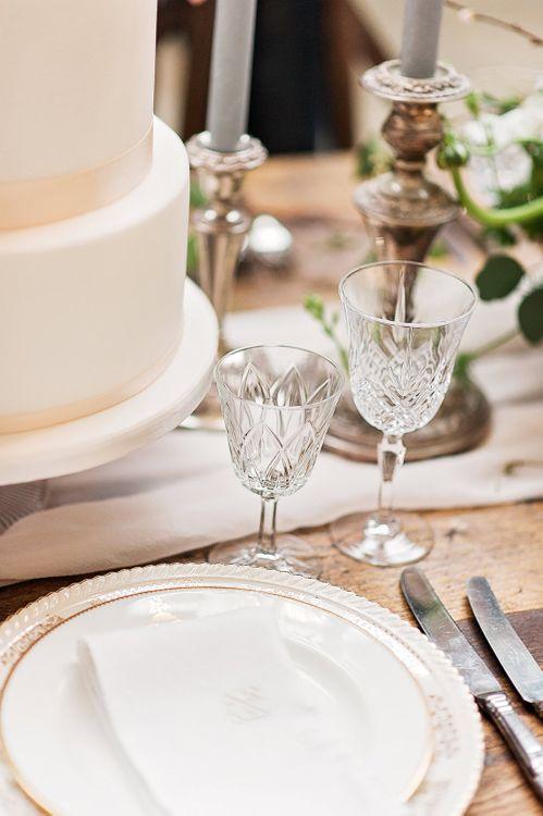 Cuy Crystal Champagne Glasses | Blush Pink, Romantic, Country Wedding Inspiration at Tithe Barn, Dorset | Darima Frampton Photography