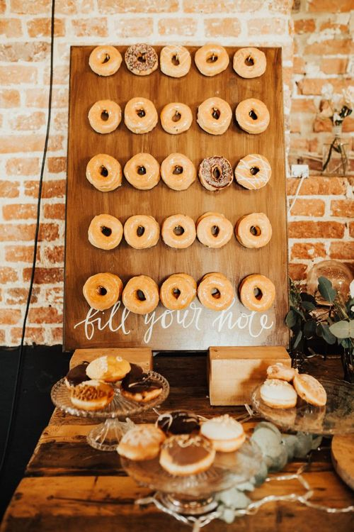 Find Your Hole Wooden Doughnut Wall