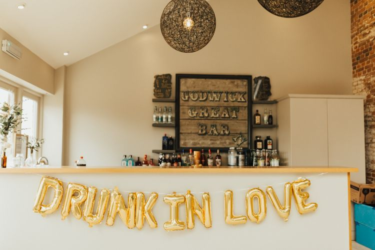 Drunk in Love Gold Foil Balloons