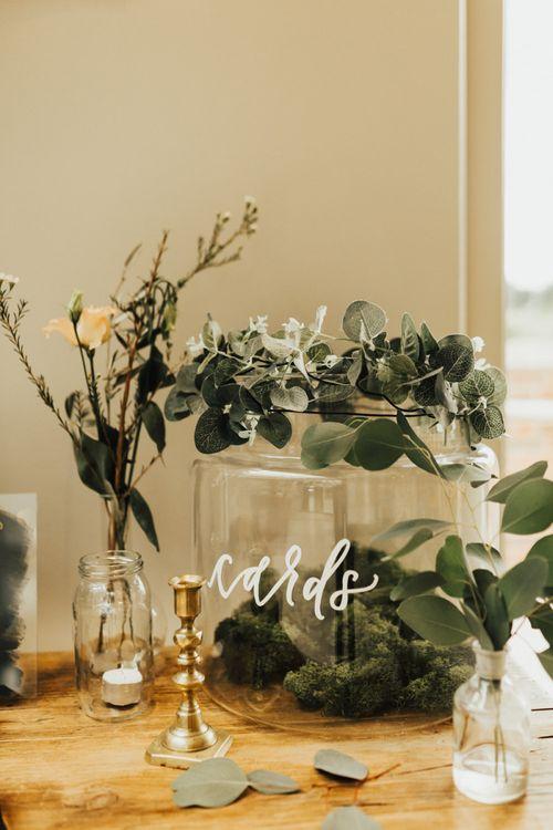 Wedding Cards Glass Jar