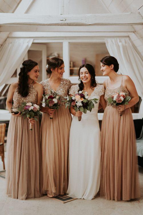 Bride and bridesmaids in Asos
