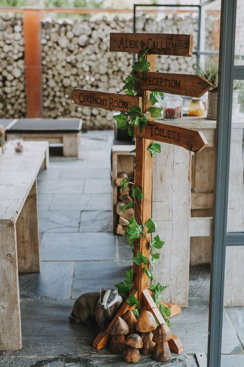 Wooden Sign For Wedding // Image by Nicki Feltham Photography