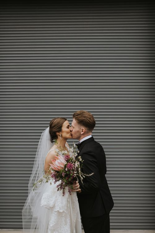 Bride and groom at Australian wedding