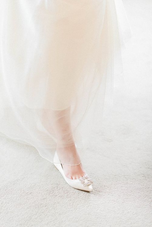 Flat wedding shoes for March wedding