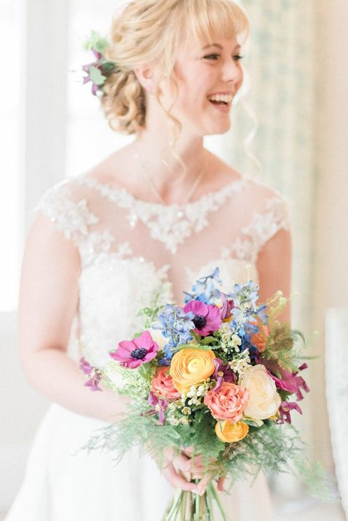 Bright Spring bouquet for March wedding