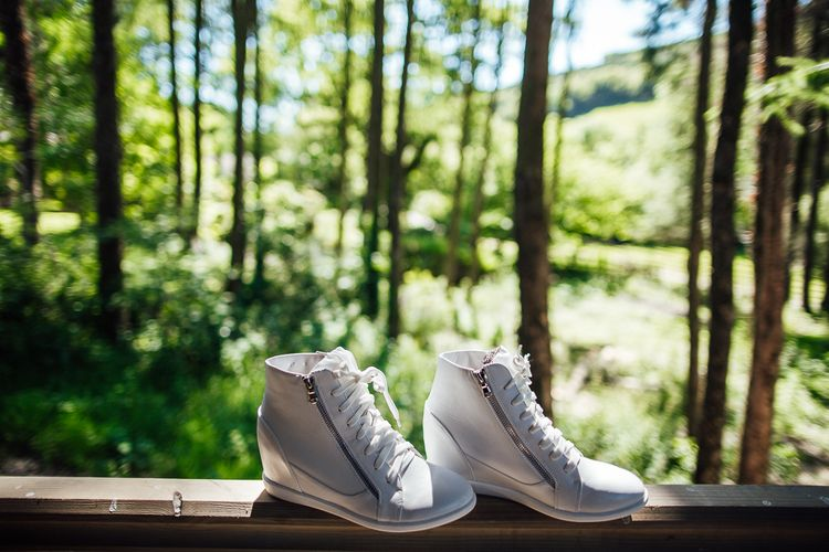 Bridal Shoes | DIY Rustic Wedding in a Sheep Shed | Suzanne Neville Bridal Gown | Donegal Tweed Suits | Bridesmaids inPurple  JLM Couture Special Occasions Dresses | Matt Willis Photography
