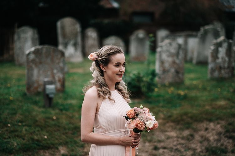 Bridesmaids in Peach ASOS Dress | Peach Wedding at Swanton Morley House and Gardens in Norfolk |  Jason Mark Harris Photography | Together we Roam Films
