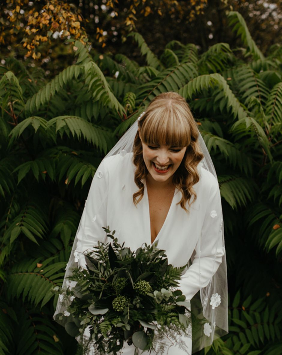 green foliage wedding bouquet