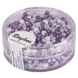 Kásagyöngy, átm. 2,6 mm, gyöngyház, lila árnyalatok, 17 g