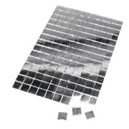 Tükörmozaik, nem kell fugázni, ezüst, 10x10 mm, 150 db