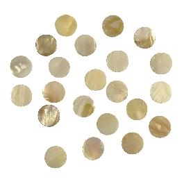 Gyöngyházas mozaik, 12 mm átm.,kb.66 db/40g